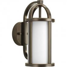 Progress P5631-20 - One Light Antique Bronze Opal Etched Glass Wall Lantern