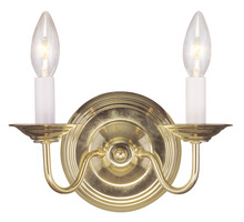 Livex Lighting 5018-02 - 2 Light Polished Brass Wall Sconce