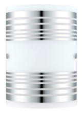 Eglo 200302A - 1X60W Wall Light w/ Chrome Finish & White Décor Glass