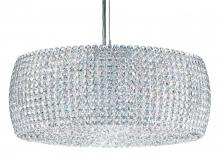 Schonbek DI1807A - Dionyx 3 Light 110V Pendant in Stainless Steel with Clear Spectra Crystal