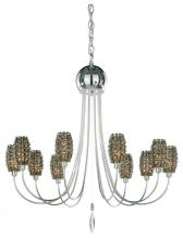 Schonbek DI2527A - Dionyx 10 Light 110V Chandelier in Stainless Steel with Clear Spectra Crystal