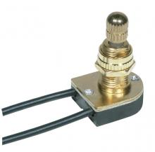 Satco Products Inc. 80/1134 - On-Off Metal Rotary Switch, Metal Bushing, Single Circuit. Rated: 6A-125V, 3A-250V