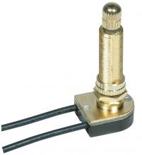 Satco Products Inc. 80/1413 - On-Off Metal Rotary Switch, Metal Bushing, Single Circuit. Rated: 6A-125V, 3A-250V