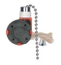 Satco Products Inc. 80/1983 - 3 Speed Ceiling Fan Switch, 4 Wire Quick Connect, 2 Circuit w/Metal Chain, White Cord & Bell - Rated