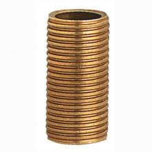 "Westinghouse 1331200 - Brass Running Thread Nipples 1 1/2"" Long"