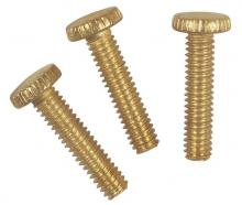 "Westinghouse 7063200 - 3 Knurled Head Steel Screws Brass-Plated 1/2"" Long"