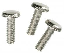 "Westinghouse 7063300 - 3 Knurled Head Steel Screws Nickel-Plated 1/2"" Long"