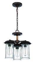Jeremiah 36153-ABZ - 3 Light Convertible Semi Flush/Pendant in Aged Bronze
