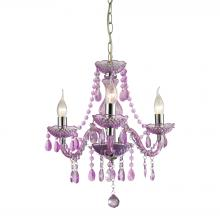 Sterling Industries 144-013 - Theatre 3 Light Mini Chandelier In Purple