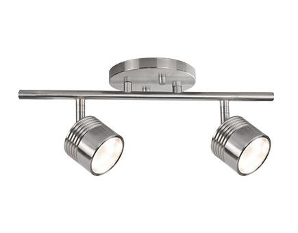Led Fixed Track With Two Modern Die Cast Aluminum Directional Heads