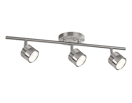 Led Fixed Track With Three Modern Die Cast Aluminum Directional Heads