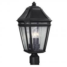 Feiss OL11308BK - 3 - Light Outdoor Post