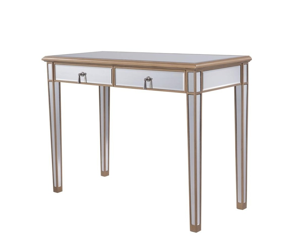 2 Drawers Dressing table 42 in. x 18 in. x 31 in. in Gold paint