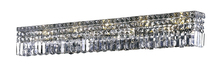 Elegant V2032W44C/RC - 2032 Maxime Collection Wall Sconce L:44in H:6.25in E:4.5in Lt:10 Chrome Finish (Royal Cut Crystals)
