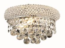 Elegant V1800W12C/EC - 1800 Primo Collection Wall Sconce D:12in H:6in E:7in Lt:2 Chrome Finish (Elegant Cut Crystals)