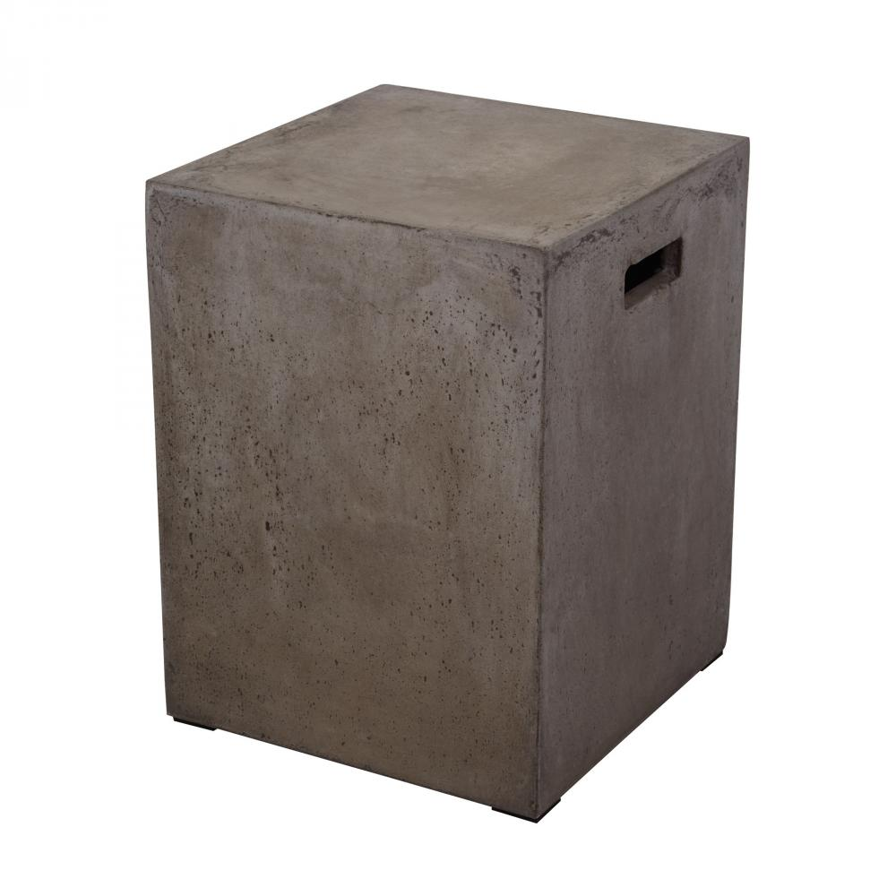 Cubo Square Handled Concrete Stool