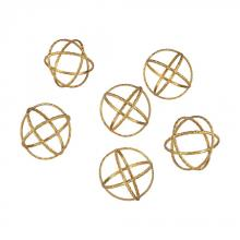 Dimond 351-10174/S6 - Decorative Gold Orbs