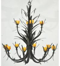 "Meyda Tiffany 110277 - 52""W Flowering Wheat Amber 12 Lt Chandelier"