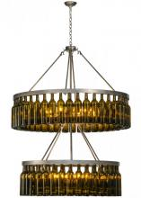 "Meyda Tiffany 150900 - 46""W Tuscan Vineyard Estate 80 Wine Bottle Two Tier Chandelier"
