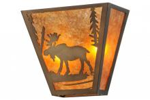 "Meyda Tiffany 158334 - 13""W Moose Creek Wall Sconce"