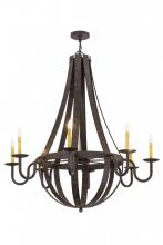 "Meyda Tiffany 169875 - 48""W Barrel Stave Metallo 8 Lt Chandelier"