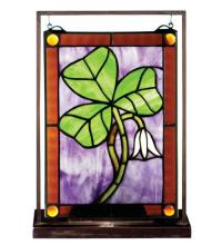 "Meyda Tiffany 50036 - 9.5""W X 10.5""H Shamrock Lighted Mini Tabletop Window"