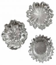 Uttermost 08503 - Uttermost Silver Flowers Wall Art, Set/3